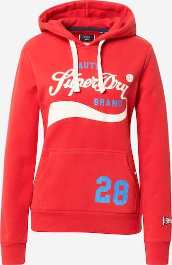 Superdry Sweatshirt 'Cali' in blau / rot / offwhite, Produktansicht