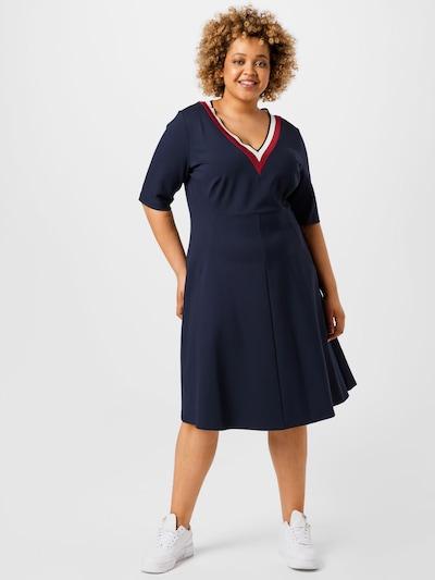 Rochie 'PUNTO' Tommy Hilfiger Curve pe bleumarin / roșu / alb, Vizualizare model