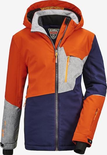 KILLTEC Skijacke 'Glenshee' in navy / hellgrau / orange, Produktansicht