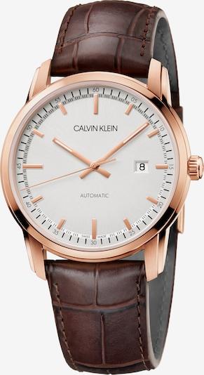 Calvin Klein Automatikuhr 'K5S346G6' in braun / gold / weiß, Produktansicht