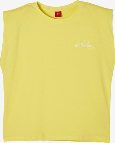 s.Oliver T-Shirt in hellgelb, Produktansicht