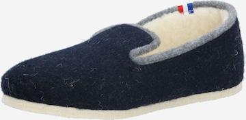 Papuci de casă 'CHALET TRADITIONAL' de la espadrij l´originale pe albastru