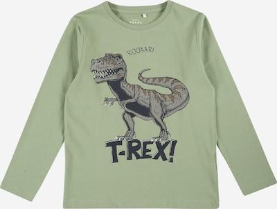 NAME IT Shirt 'VUX' in de kleur Grijs / Groen / Zwart, Productweergave