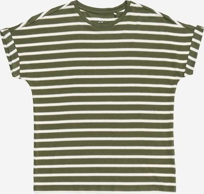 NAME IT Shirt 'FLYRRI' in dunkelgrün / weiß, Produktansicht