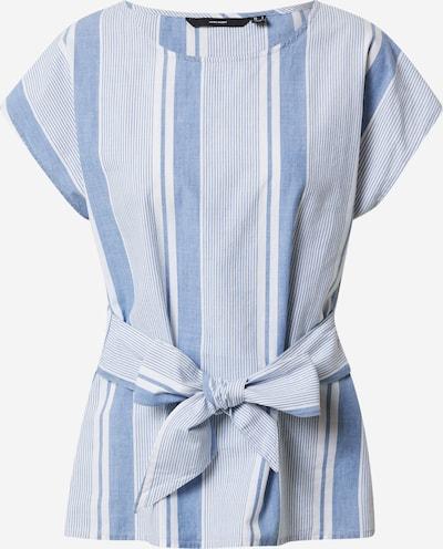 VERO MODA Блуза 'VMMILEY' в син деним / бяло, Преглед на продукта
