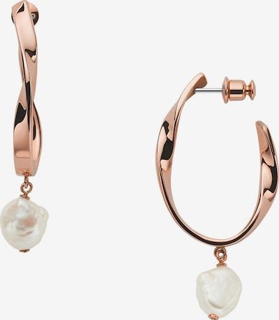 SKAGEN Ohrringe in rosegold / weiß, Produktansicht