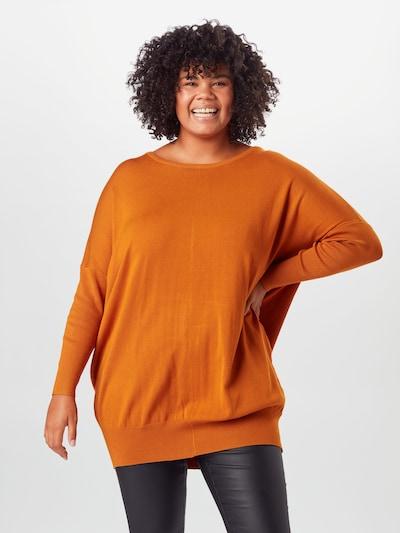Zizzi Sweter 'Carrie' w kolorze pomarańczowym: Widok z przodu