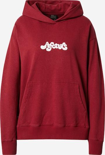 Afends Sweatshirt in karminrot / weiß, Produktansicht