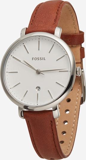 FOSSIL Zegarek analogowy 'Jacqueline' w kolorze jasnobrązowy / srebrny / białym, Podgląd produktu