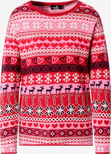 Zwillingsherz Sweater 'Christmas Time' in pink / grenadine / black / white, Item view