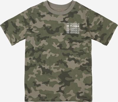 Cotton On Skjorte 'Max' i greige / khaki / sort-meleret / hvid: Frontvisning