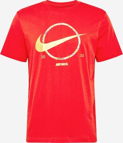 Nike Sportswear Shirt in gold / rot: Frontalansicht