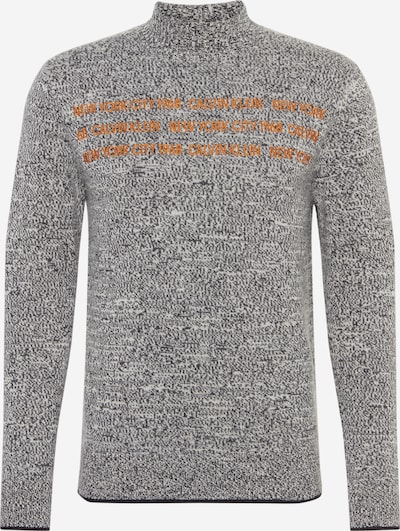 Calvin Klein Pullover 'HEATHER' in orange / schwarzmeliert, Produktansicht