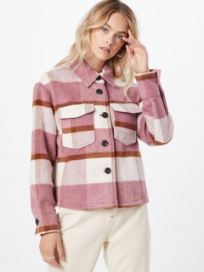 VERO MODA Jacke 'Pernille' in rosa / dunkelrot / weiß: Frontalansicht