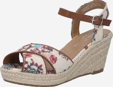 Sandales à lanières TOM TAILOR en beige