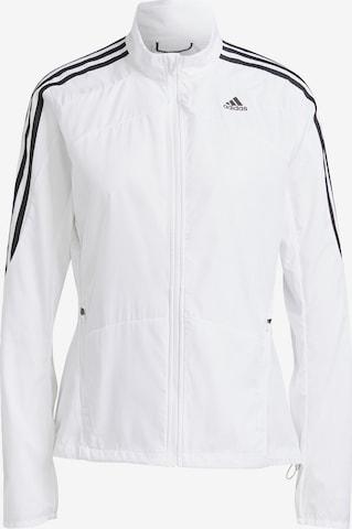 ADIDAS PERFORMANCE Athletic Jacket 'Marathon' in White