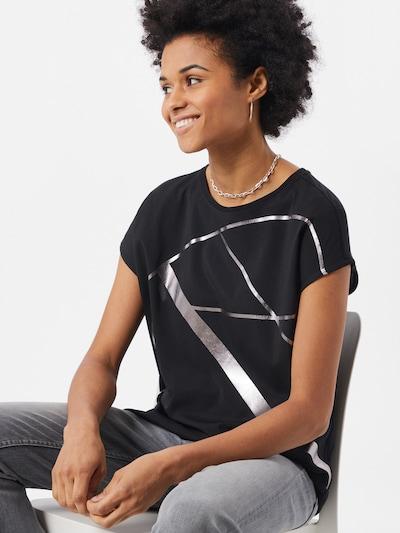 Marškinėliai 'Sanina' iš OPUS , spalva - antracito / Sidabras: Vaizdas iš priekio