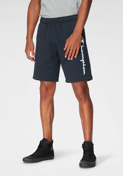 Champion Authentic Athletic Apparel Nohavice - námornícka modrá / biela, Model/-ka