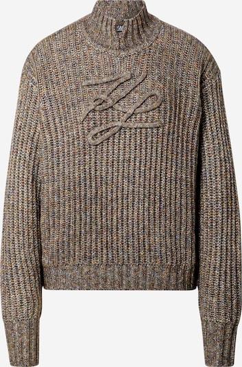 Karl Lagerfeld Sweter 'Signature Soutache' w kolorze nakrapiany brązowy / nakrapiany szarym, Podgląd produktu