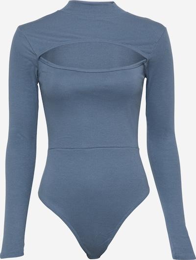 Public Desire Shirtbody 'PEAK A BOO' in taubenblau, Produktansicht