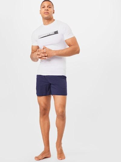 JACK & JONES Krátke pyžamo - tmavomodrá / biela, Model/-ka