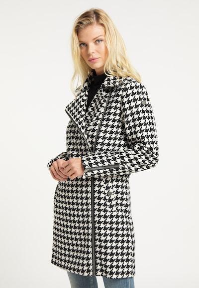 DreiMaster Vintage Wintermantel in schwarz / weiß, Modelansicht