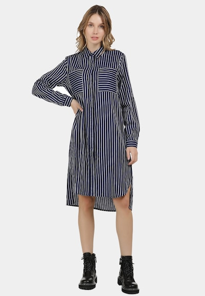 DreiMaster Vintage Kleid in navy / weiß, Modelansicht
