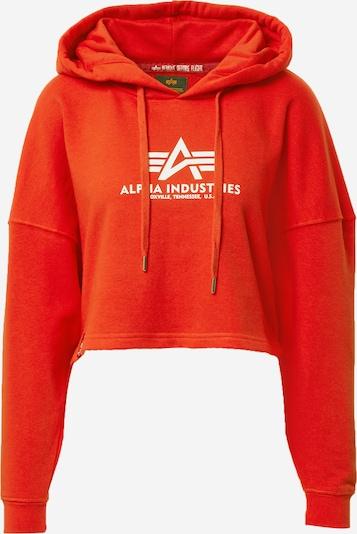 ALPHA INDUSTRIES Sweatshirt in rot / weiß, Produktansicht