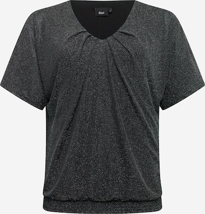 Zizzi Bluse in schwarz / silber, Produktansicht