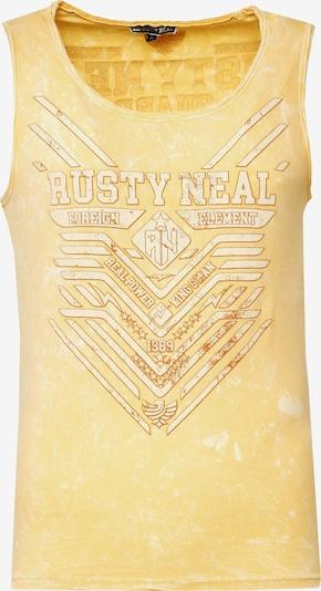 Rusty Neal Cooles Tank Top mit angesagtem Print in gelb, Produktansicht