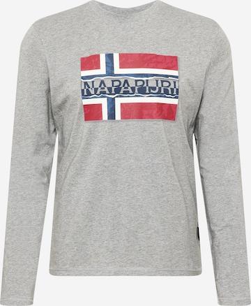 T-Shirt 'SENCH' NAPAPIJRI en gris