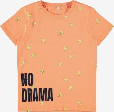 NAME IT Shirt in de kleur Geel / Abrikoos / Zwart, Productweergave