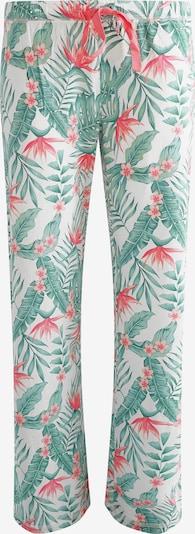 PJ Salvage Schlafhose 'Paradise' in grasgrün / melone / weiß, Produktansicht