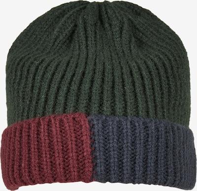 Urban Classics Bonnet en bleu marine / vert foncé / bourgogne, Vue avec produit