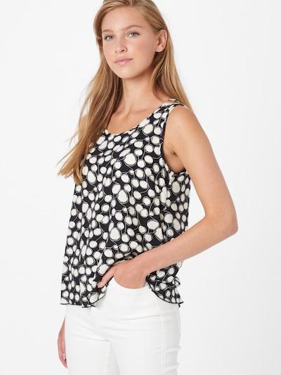 ZABAIONE Bluza 'Ivana' | črna / bela barva, Prikaz modela