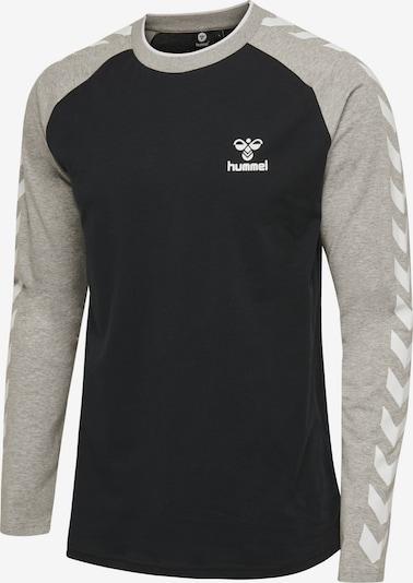 Hummel T-Shirt L/S in grau / schwarz / weiß, Produktansicht