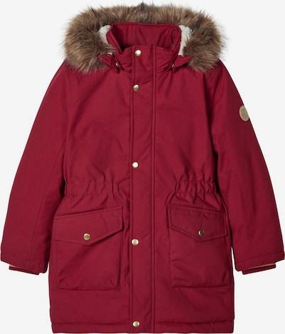 NAME IT Zimska jakna 'Mibis' u smeđa / pastelno crvena / bijela, Pregled proizvoda