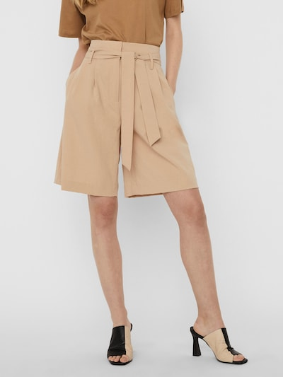 VERO MODA Voltidega püksid 'Haily' beež, Modellivaade