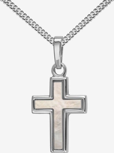 JEVELION Kreuzanhänger 925 Silber + Kette in silber, Produktansicht