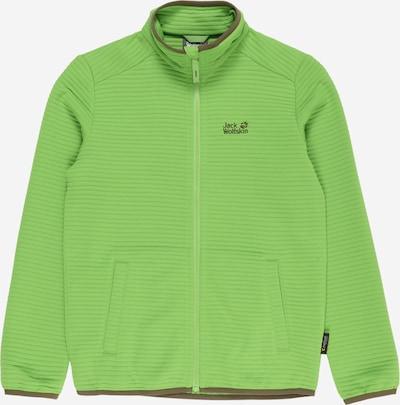 JACK WOLFSKIN Functionele fleece jas 'Modesto' in de kleur Donkerbruin / Lichtgroen, Productweergave