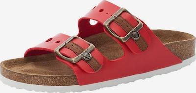 RIEKER Pantolette in braun / rot, Produktansicht