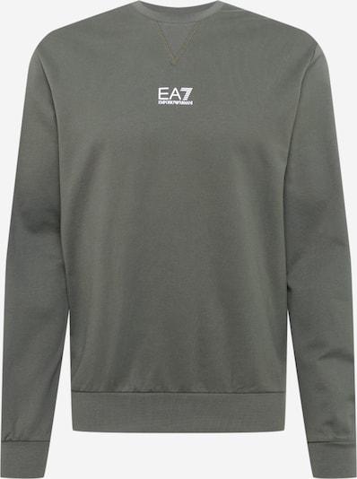 EA7 Emporio Armani Mikina - zelená / biela: Pohľad spredu