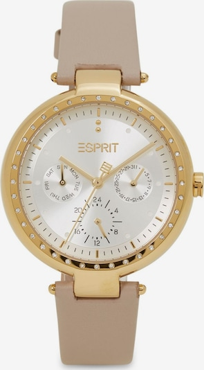 ESPRIT Analoog horloge in de kleur Beige / Goud / Wit, Productweergave
