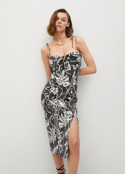 MANGO Kleid 'Dalia' in creme / marine / schwarz, Modelansicht