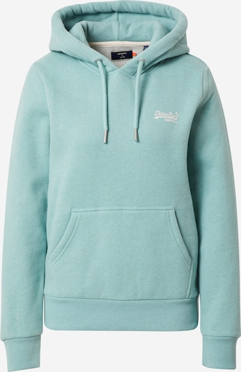 Superdry Sweatshirt in türkis / weiß, Produktansicht