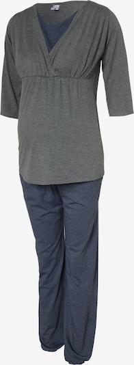 Bebefield Pyjama 'Wellness' in rauchblau / grau, Produktansicht