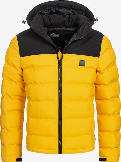 INDICODE JEANS Winterjas 'Eberhardy' in de kleur Geel / Zwart, Productweergave