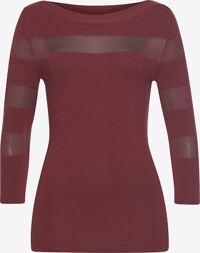 MELROSE 3/4 Arm-Pullover in rostbraun, Produktansicht