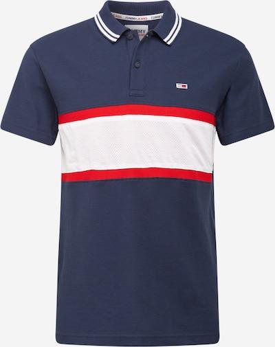 Marškinėliai iš Tommy Jeans, spalva – tamsiai mėlyna / raudona / balta, Prekių apžvalga