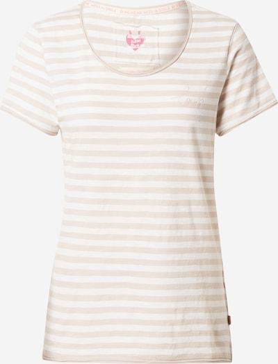 LIEBLINGSSTÜCK Shirt 'Cia' in hellbeige / weiß, Produktansicht